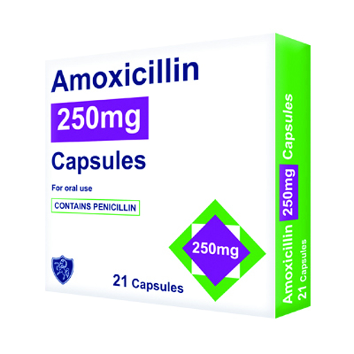 Picture of Amoxicillin 250mg Capsules (21)