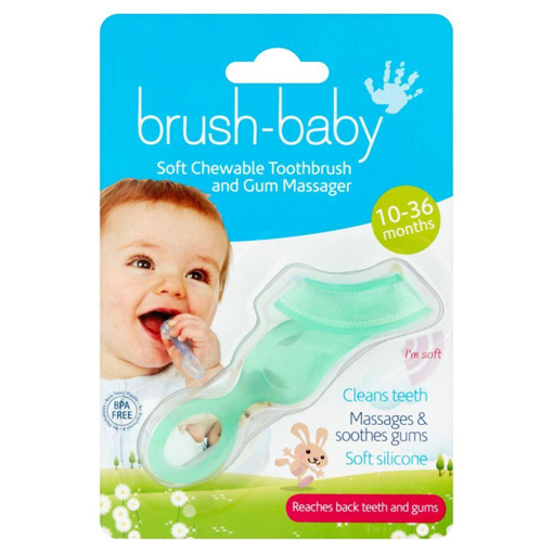 Picture of Brush-Baby Teether Brush - GREEN