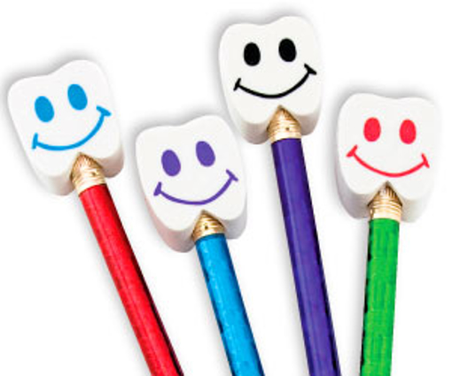 Picture of Smile Tooth Erasers (1 inch)