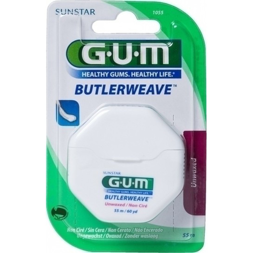 Picture of G.U.M ButlerWeave UNWAXED Floss 55m