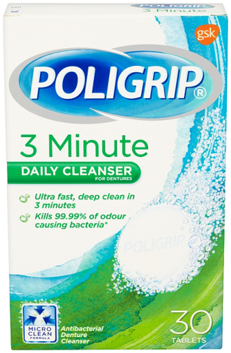 Picture of Poligrip 3 MIN Daily Cleanser Tabs (30)