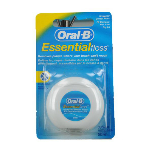 Picture of Oral-B ESSENTIAL Unwaxed Floss 50m