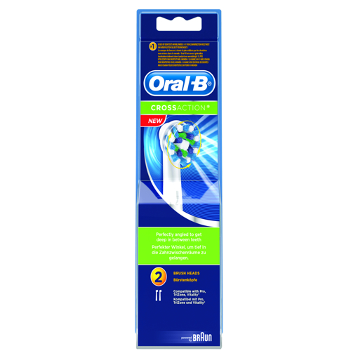 Picture of Oral-B CrossAction TWIN Heads EB50-2