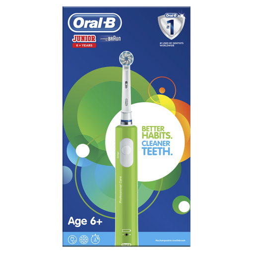 Picture of Oral B Junior Green 6+ Elec Toothbrush