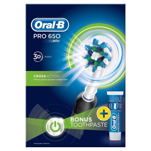 Picture of Oral B Pro 650 Black+ Paste
