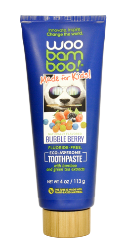 Picture of Woobamboo Bubble Berry Kids Toothpaste 113g