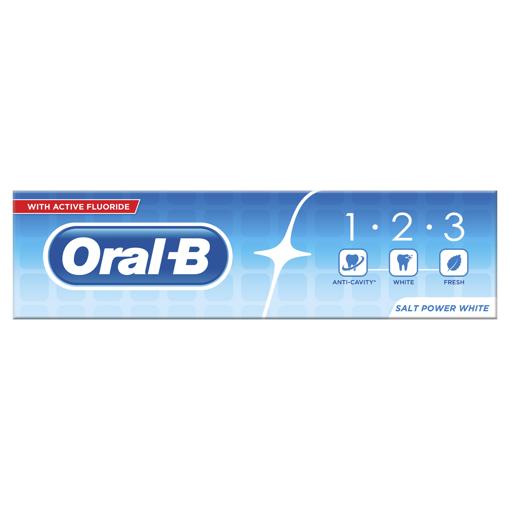 Picture of Oral-B 1.2.3 Salt Powder White 100ml Toothpaste