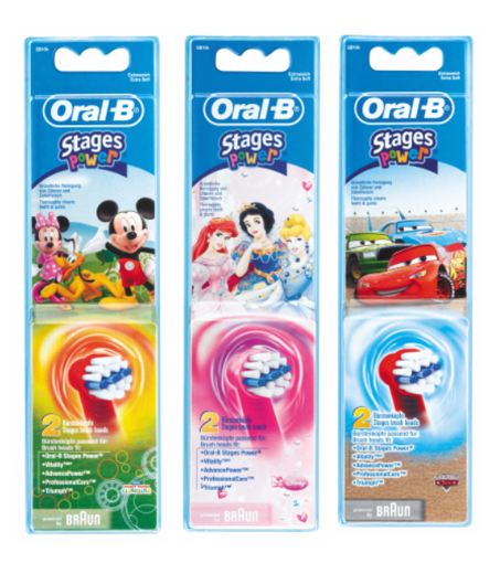 Picture of Oral-B Stages Kids Twin Pack Heads