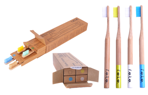 Picture of f.e.te. Bamboo Toothbrush Value Packs