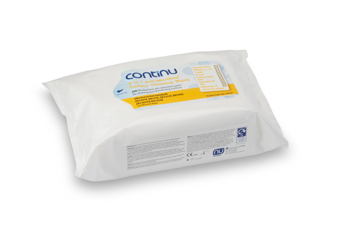 Picture of Continu 2 in 1 Surface Wipes FLAT PACK (200)