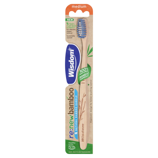 Picture of Wisdom RE-NEW Bamboo Medium Toothbrush