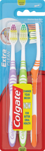 Picture of Colgate Extra Clean TRIPLE PACK Toothbrushes