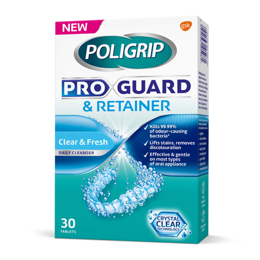 Picture of Poligrip Mouth Guard & Retainer (30 tabs)